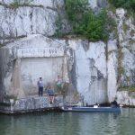 Tabla Trajana en el Danubio